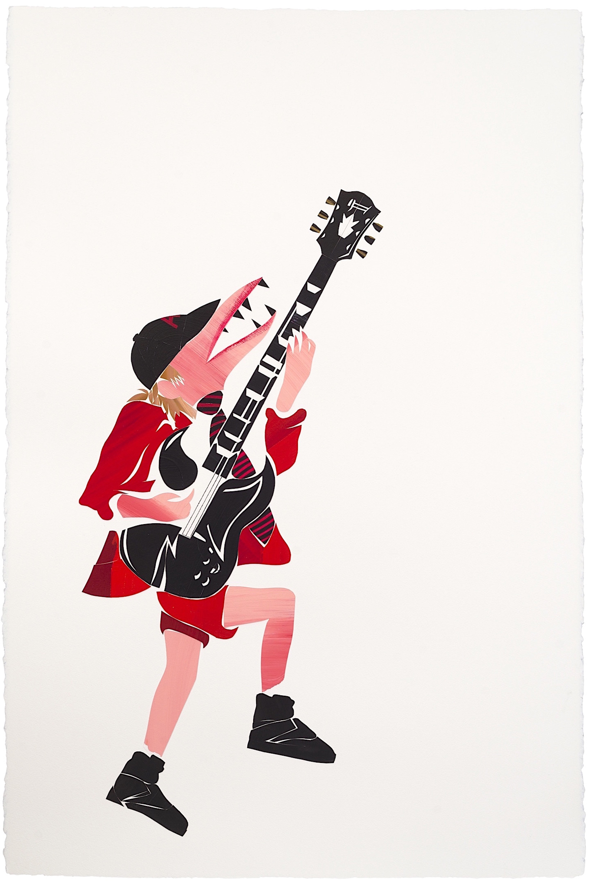 Abdul Vas. The Cut-Outs Rock Edge. Angus Young AC/DC, 2012. Angus Young Portrait