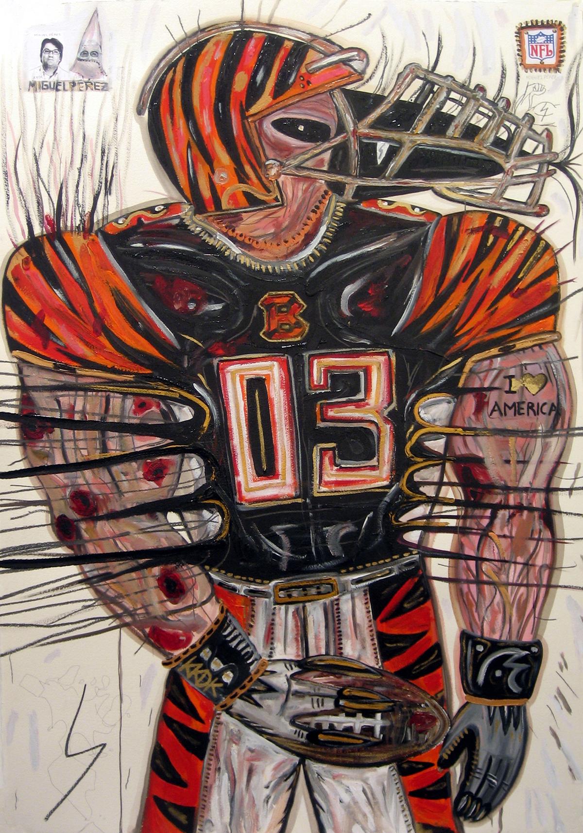 Abdul Vas. The Texas Chainsaw Massacre + Cincinnati Reds. Cincinnati Bengals, 2005