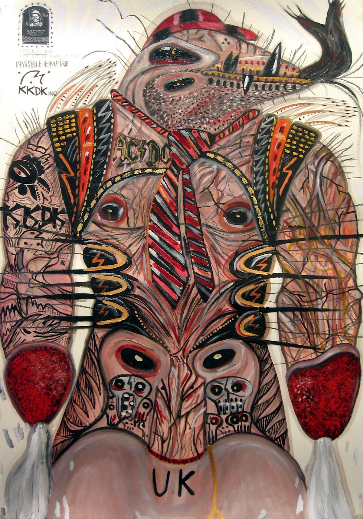 Abdul Vas. The Texas Chainsaw Massacre + Cincinnati Reds. The Invisible Empire, 2005