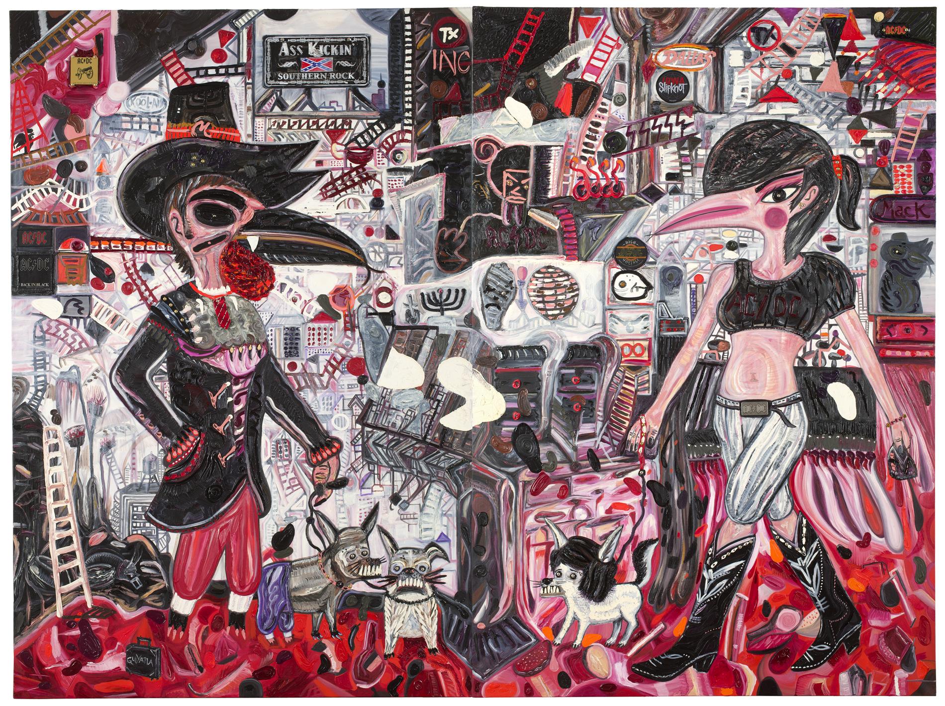 Abdul Vas. Rock ´N´ Roll. Cucarachero Dul Jewish, Laica & Patticcas Alcanhizana, 2007 (diptych)