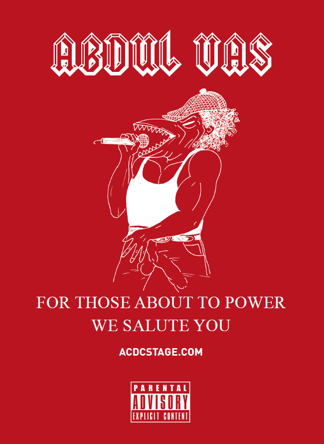Abdul Vas. Book & Fanzines. For Those About to Power. ACDC.