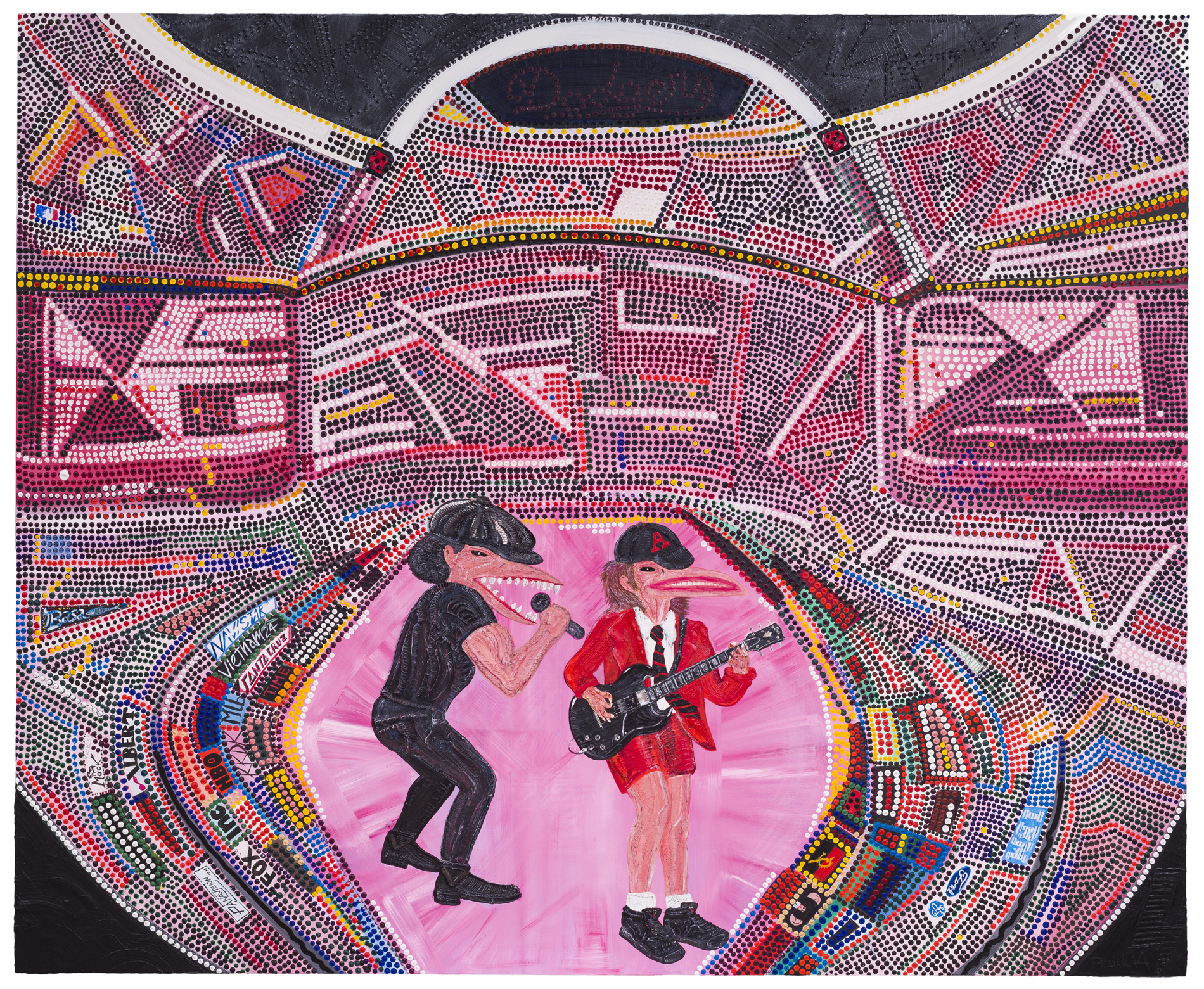 AC/DC Artwork. Abdul Vas. Live At Dodgers Stadium 2015. Hypebeast, Saul Bass. Baseball Paintings, Highway To Hell, Truck NFL