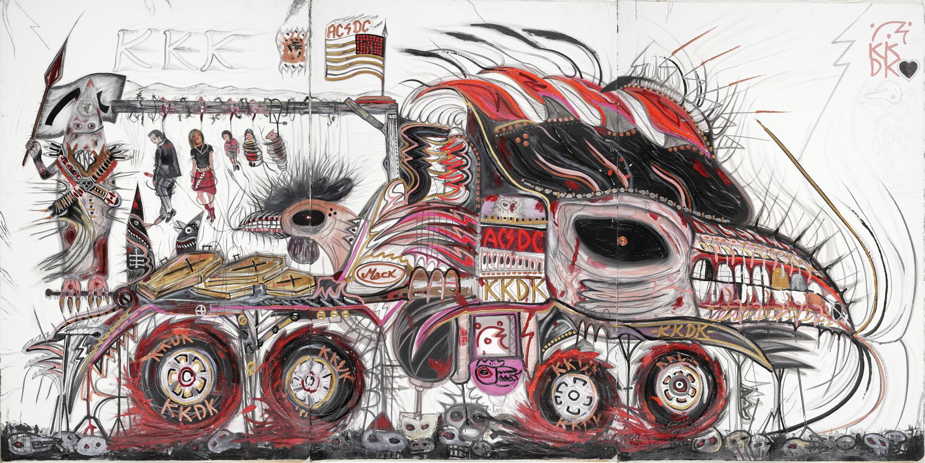 Philip Guston Cars. Abdul Vas. American Truck. Pettricca Blanca 14700-KKDK Inc-MACK, 2004. William Burroughs, City of Bohane, Kevin Barry.