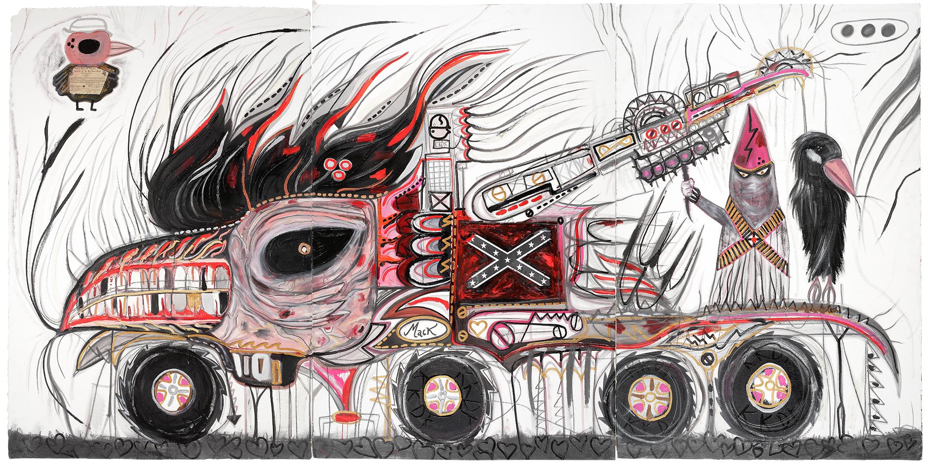 Philip Guston Cars. Abdul Vas. American Truck. Mack. Sir Barry Austin, TX 18666-Crowes-MACK, 2004. American Trucks Paintings. Pwr up, William Burroughs,